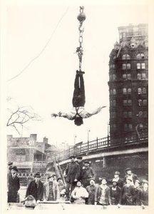 strait jacket escape, magician, magic show, Harry Houdini, Amazing Dave Elstun