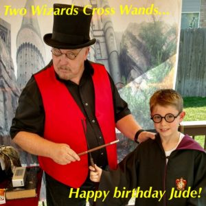 wizard birthday party, magic show, magician, kids birthday party